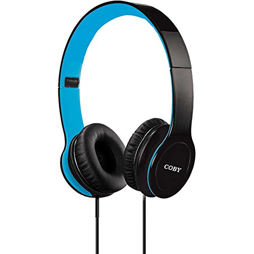 Coby Cvh-801-Blu Stereo Folding Headphones