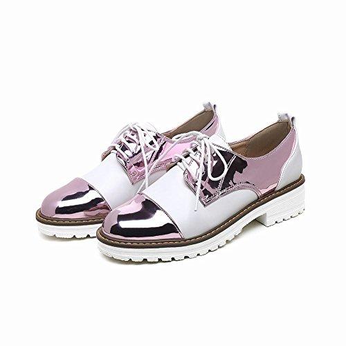 Mee Shoes Damen bequem mehrfarbig Nirdrig runde Brogue Lila