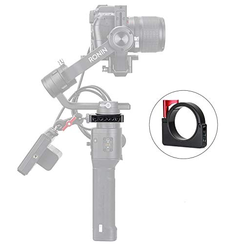 EACHSHOT RoninS-Ring Extension Mounting Ring Adapter Ring Mount Compatible DJI Ronin S with 1/4'' and 3/8'' Screws Applied to Camera Monitor Rode Microphone LED Video Light Filmmaker Vlog by EACHSHOT