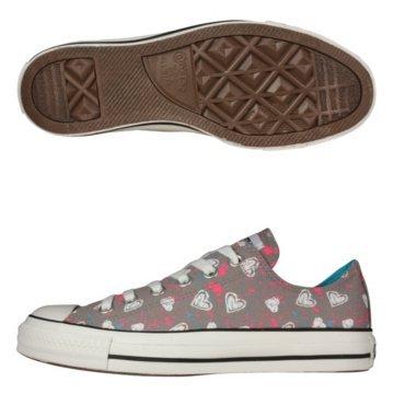 2b63551896ea Converse Chuck Taylor Hearts Allover Print Grey Unisex Shoe - Both in Hi  and Lo Top (4 M US