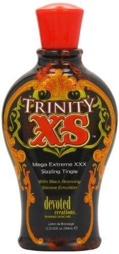 Devoted Creations Trinity XS Mega Extreme XXX Sizzling Tingle with Black Bronzing Silicone Emulsion 360ml by Devoted Creations by Devoted Creations