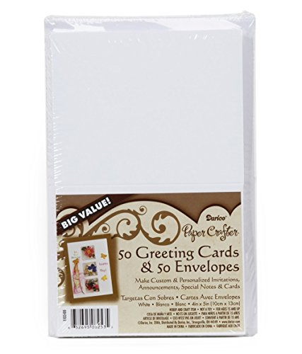 Blank Cards and Envelopes - White - 4.25