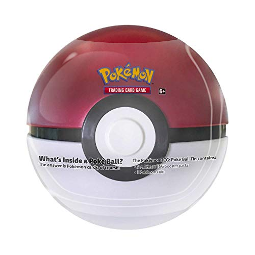 Pokemon TCG: Poke Ball Tin Red - 3 Booster Pack with 1 Coin