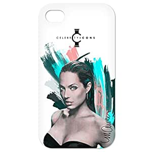 """Funda personalizada para Apple iPhone 4 / 4 S, Diseño """"Angelina Artwork © Sid Maurer"""" plástico ( V.I.P. Pictures World powered by CRISTALICA )"""