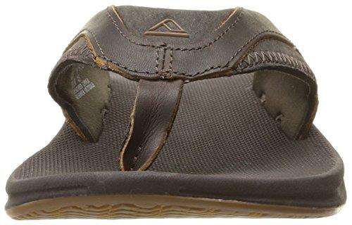 Reef Herren Leather Fanning Sandalen, Braun (Brown) Braun (Brown Bro)