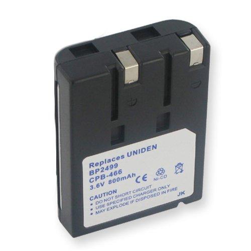 Uniden BT-990 Cordless Phone Battery Ni-CD, 3.6 Volt, 800 mAh - Ultra Hi-Capacity - Replacement for Uniden BT990 Rechargeable (990 Cordless Phone Battery)