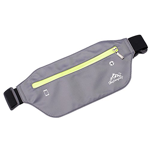 Bumbag Phone Hip Bag Bag Bag Waterproof Sling Pack Travel Bum Funky Zipper Nylon Fanny Pack Waist Shoulder Running Chest Storage Bag Grey Sport Lonshell O5Tw7qvw