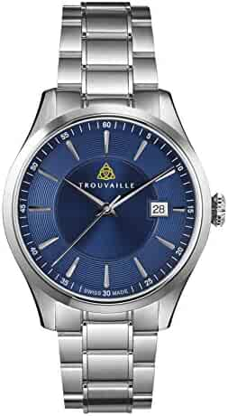 e2f487750 Trouvaille Watches Classic Index Blue Dial - Swiss Made Automatic Watch  with Stainless Steel Bracelet