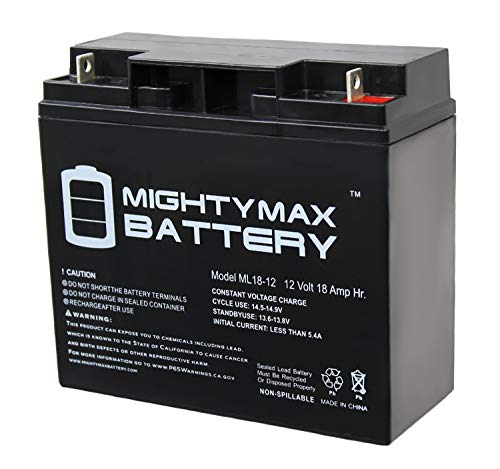 Mighty Max Battery ML18-12 - 12V 18AH CB19-12 SLA AGM Rechargeable Deep Cycle Replacement Battery Brand Product - Compressor Volt