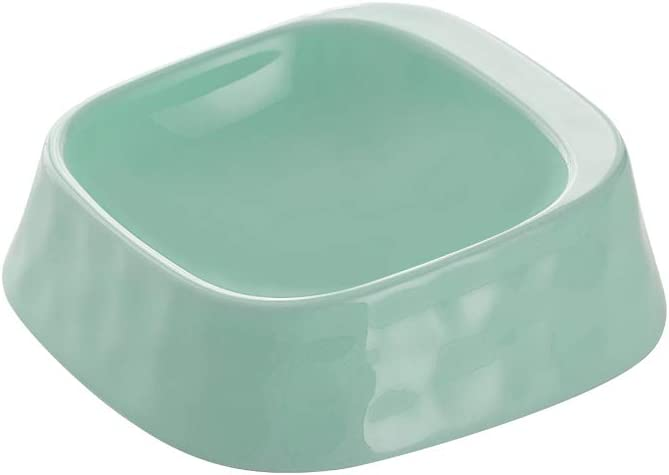 Green Whisker Stress Free Cat Food Bowl Dog Bowl , Reliefs Whisker Fatigue, Wide dog Cat Dish, Non Slip Dog Cat Feeding Bowls, Shallow Cat Food Bowls, Non Skid Pet Bowls for Cats/rabbit/small dog