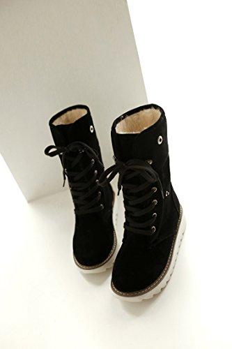 colore Stivali caldo rotonda Black VB cinghia Cashmere scarpe inferiore spessa testa Bump dtSdwz4q