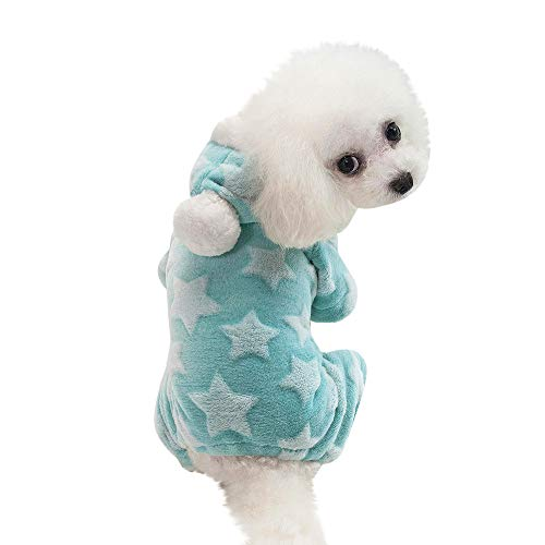 Four Star Pirate Hat - XoiuSyi Pet Puppy Winter Warm Clothes,Dog Cat Star Print Four-Legged Coat Apparel
