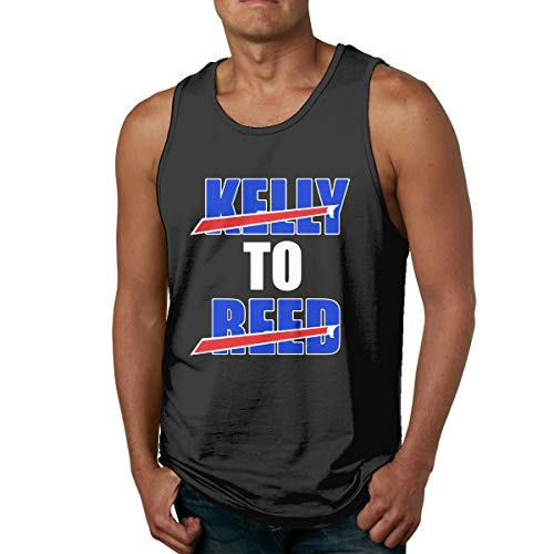 Men's Sleeveless Tank Top Shirts RED Buffalo Kelly to Reed Cotton Gym Vest Casual Sport T-Shirts ()