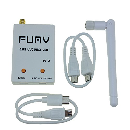 FPV 5.8GHz 150CH FUAV Capture Card OTG Receiver with Auto-scan Snowflake function For Android Mobile Phone Tablet Smartphone (OTG feature (Qualcomm Antenna Adapters)