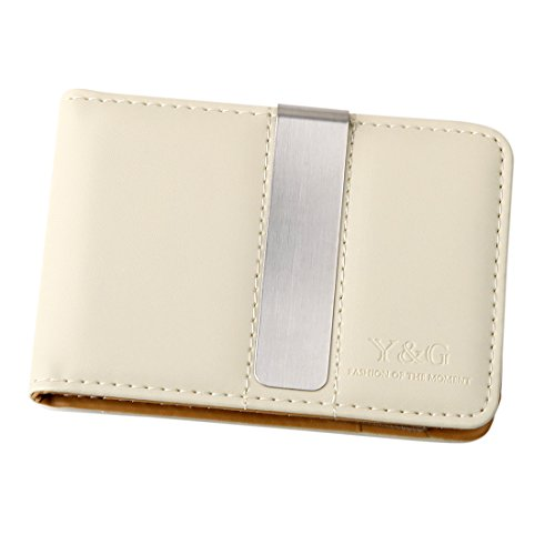 11. Y&G YCM1301 Classic Fashion Leather Wallet-Money Clip Credit Card Holder, Beige