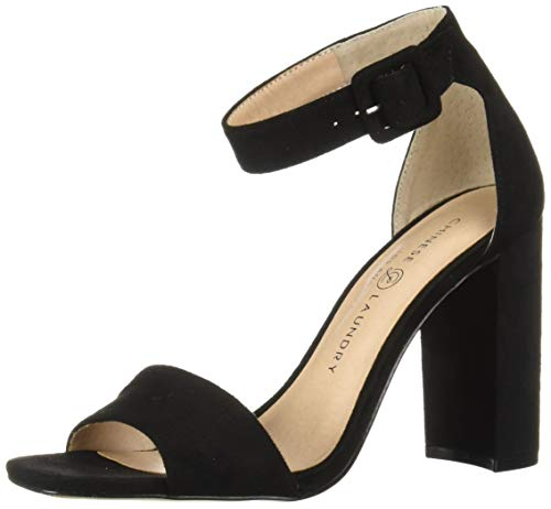 Chinese Laundry Women's JETTIE Heeled Sandal, Black Suede, 7.5 M US ()