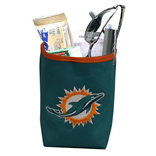 NFL Miami Dolphins Logo Car Pocket Organizer - Hangs from Car Vent