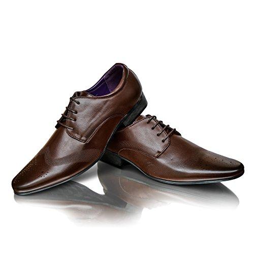 Moda 9 Pelle Uomo UK Abito Cioccolato Alla Da Formali Nera In taglia 8 Elegante 10 11 Nuovo Scarpe 6 7 Marrone dXFEang