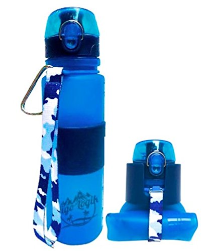 Aigo Logik 22oz Silicone Collapsible Travel Water Bottle – BPA Free, Leakproof with Carabiner