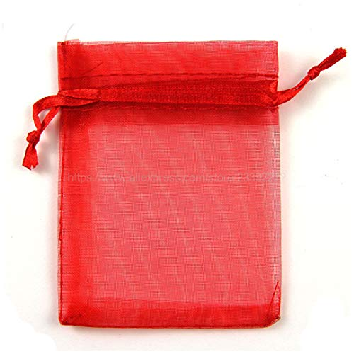 100Pcs Jewelry Bags Packing Drawable Organza Bags 7X9 for sale  Delivered anywhere in USA