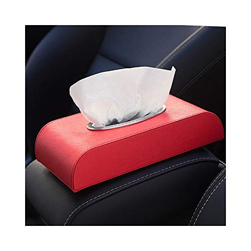 ZEZHE Simple Creative Leather Tissue Box Car Seat Tissue Box Simple Car Tray Car Leather Tissue Storage Box (Color : H)