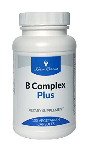 Karen Berrios B-Complex Plus – Essential B Vitamins with Folate - Metafolin L-5 MTHF and Vitamin B12 – 100 Capsules