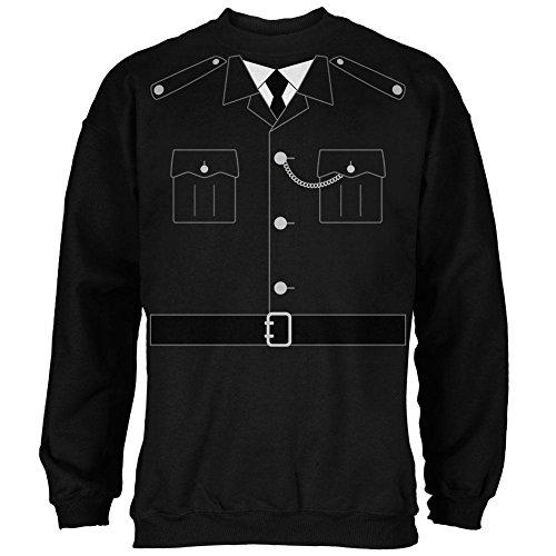 Bobby Costumes (Halloween British Bobby Copper Police Costume Mens Sweatshirt Black 2XL)