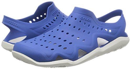 crocs Men's Swiftwater Wave M Flat,Blue Jean/Pearl White,4 M US by Crocs (Image #5)