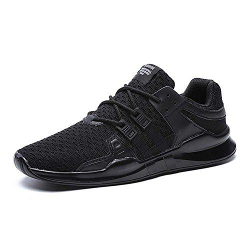2 Mengxx Légères Dérapantes Décontractée Homme Anti De Chaussures Course Baskets Black Sports Mode TUxq7TrnW