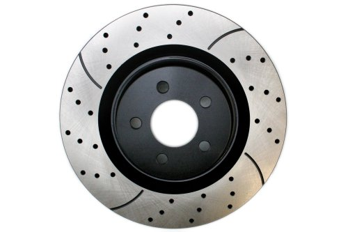 Prime Choice Auto Parts PR63031L Front Drivers Side Performance Drilled And Slotted Brake Rotor