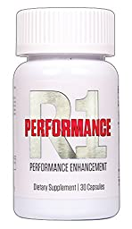 R1 Performance Male Enhancement - Enlargement Pills Increase Stamina, Size, Energy, and Endurance 1 Month Supply