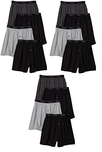 Hanes mens TAGLESS ComfortSoft Knit Boxers with ComfortSoft Waistband 5-Pack(MKCBX5)-Assorted-L-3PK