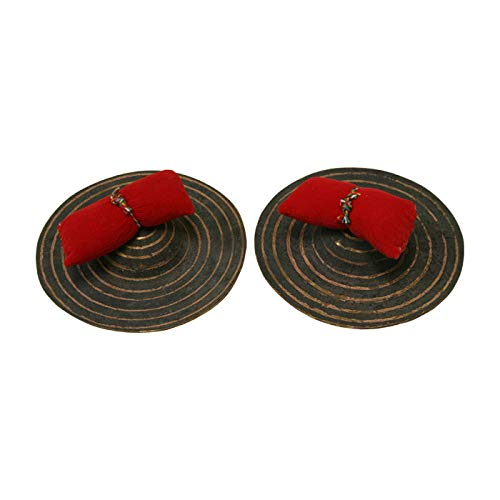 Package Includes: 6'' Dobani Hand Cymbals + Ceremonial Systrum Shaker, Red Cedar + Hand Tambourine, Pair + 17 Key Kalimba Thumb Piano, Red Cedar by Mid-East (Image #2)