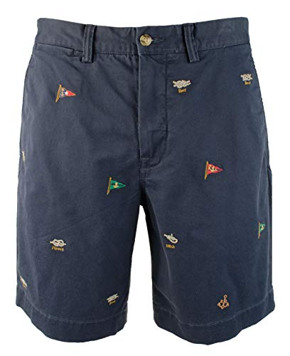 (Polo Ralph Lauren Men's Classic Fit Stretch Embroidered 9-inch Short-I-38)