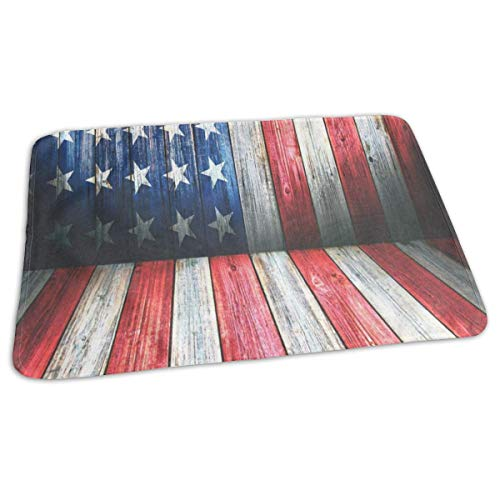 Changing Pad USA Flag Wooden Room Baby Diaper Incontinence P