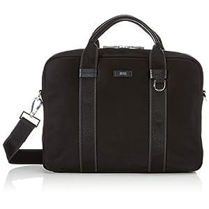 BOSS Meridian_s Doc 19sr, Men's Messenger Bag, Black, 6.5×28.5×38 cm (B x H T)