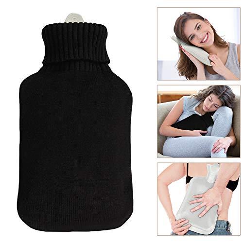 Waermflasche mit bezug, Infreecs wärmeflaschen mit Strickbezug 2 Liter Hot Water Bottle für lindert Schmerz, Bauchschmerzen...