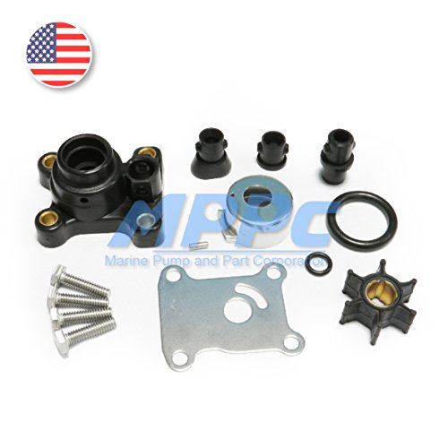 9.9HP 15HP Johnson Evinrude Outboard Water Pump Kit Replacement With Housing(1974-UP) Sierra 18-3327 OMC 394711 386697 391698 - Stroke Water Pump Kit