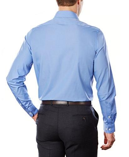 Arrow Men's Dress Shirt Poplin Slim Fit Spread Collar, Corn Flower, 17-17.5'' Neck 34-35'' Sleeve by Arrow 1851 (Image #3)