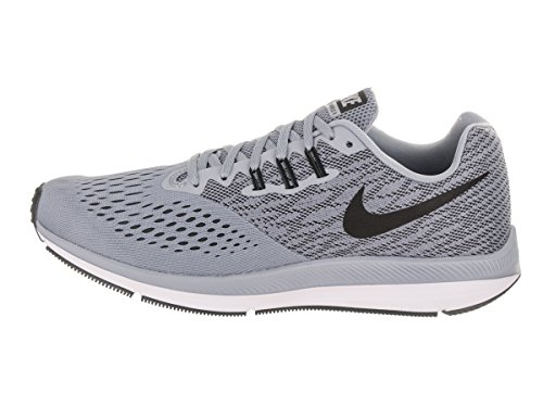 Nike Mens Zoom Winflo 4 Glacier / Gray / Black / Anthracite Running Shoe 9.5