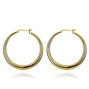 Kikole Fashion Earrings Hoops, 18k Rose Gold Plated Hoop Earrings for Women Silver Plated Jewelry
