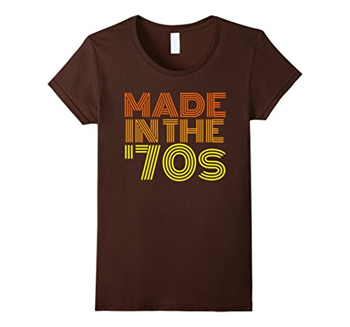Womens Made in the 70s Shirt - Vintage 70s Retro - Birthday Gift Medium (Women In The 70s)