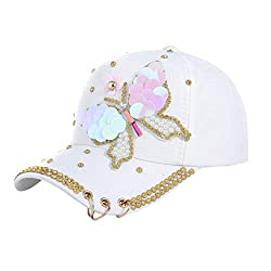 Crystals Studded Rhinestone Sequins Baseball Cap