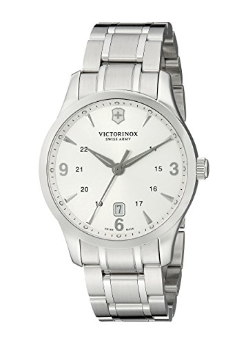 Alliance Swiss - Kevin Jewelers Mens Victorinox Swiss Army Alliance Silver Dial Mens Watch 241476