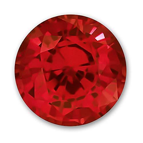 7.0mm Round Gem Quality Chatham Lab-Grown Ruby 1.48-1.81 Ct.