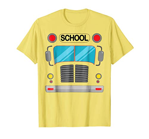 School Bus T-Shirt Halloween Funny Costume Adults and Kids