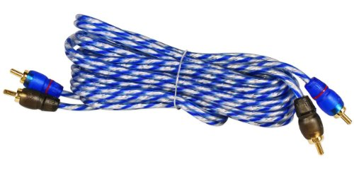 Shield Twisted Pair Cable - Rockville RTR122 12 Foot 2 Channel Twisted Pair RCA Cable Split Pin, 100% Copper