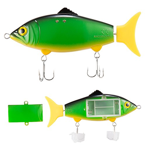 Pike Lures Northern Fishing (Vizzlema Moving Fishing Lures Water Activated Lifelike Swimbait Hard Bait for Northern Pike Largemouth Bass Trout Salmon Walleye Muskie in Freshwater and Saltwater (30g))