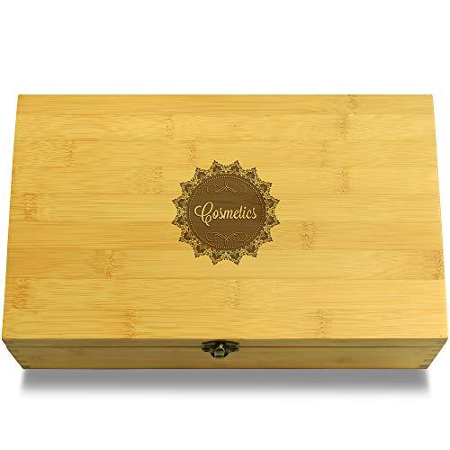 Cookbook People Cosmetics Doily Cosmetics Multikeep Box - Memento Wood Adjustable Organizer