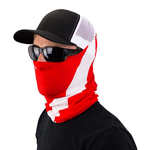 [Dive Flag Bandana And Neck Gaiter Perfect For Boaters and Divers To Represent] (Face Pirate Makeup)